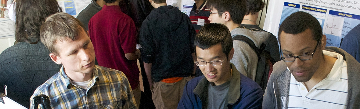 Students in poster session