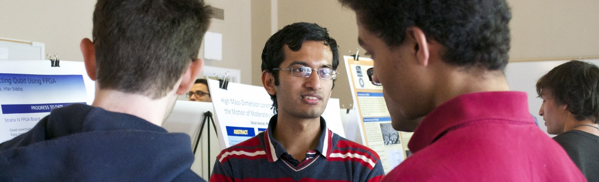 Student in poster session