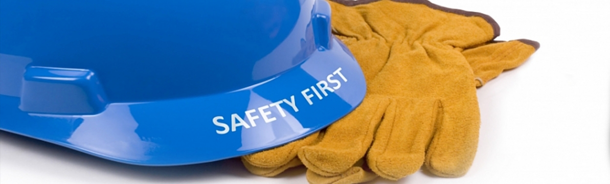 hardhat & gloves, blue and gold